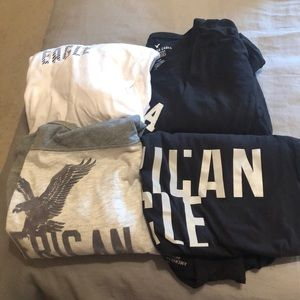 (4) American Eagle Long Sleeve Men's Shirt Bundle